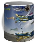 Denmark, Romo, Kites Flying At Beach Coffee Mug