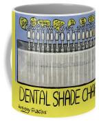 Dental Shade Chart Coffee Mug by Anthony Falbo