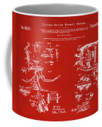 Dentists Chair Patent 1892 In Red Coffee Mug