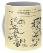 Dentists Chair Patent 1892 In Sepia Coffee Mug