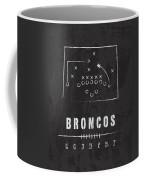 Denver Broncos Art - Nfl Football Wall Print Coffee Mug by Damon Gray