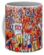 Denver Broncos Peyton Manning Oil Art Coffee Mug