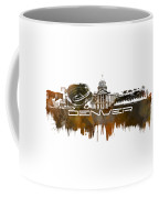 Denver Skyline City Brown Coffee Mug