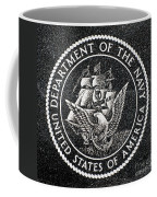 Department Of The Navy Emblem Polished Granite Coffee Mug