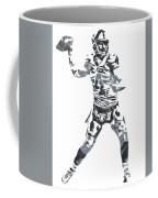 Derek Carr Oakland Raiders Pixel Art 11 Coffee Mug