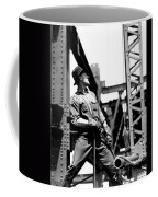 Derrick Man   Empire State Building Coffee Mug by LW Hine