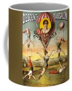 Descente D'absalon Par Miss Stena - Aerialists, Circus - Retro Travel Poster - Vintage Poster Coffee Mug