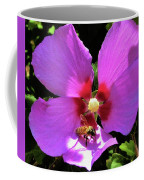 Desert Hibiscus With Honey Bee Coffee Mug