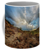 Desert Landscape With Clouds Coffee Mug