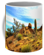 Desert Scene Near Sedona Arizona Painting Coffee Mug