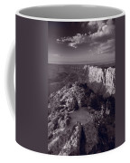 Desert View At Grand Canyon Arizona Bw Coffee Mug