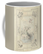 Design For A Ceiling Painting With Allegory Of Peace, Dionys Van Nijmegen, 1715 - 1798 Coffee Mug