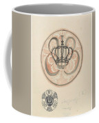 Design For A Plate With Crown And Monogram, Carel Adolph Lion Cachet, 1874 - 1945 Coffee Mug