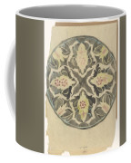 Design For A Plate With Floral Decoration, Carel Adolph Lion Cachet, 1874 - 1945 Coffee Mug