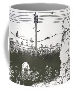 Design For End Paper Of Pierrot Coffee Mug