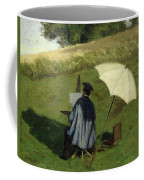 Desire Dubois Painting In The Open Air Coffee Mug by Henri Joseph Constant Dutilleux
