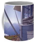 Desolation Peak Fire Lookout Cabin Sign Coffee Mug
