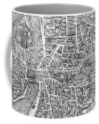 Detail From A Map Of Paris In The Reign Of Henri II Showing The Quartier Des Ecoles Coffee Mug