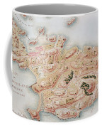 Detail Of A Map Of Rhode Island During French Occupation Coffee Mug