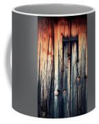 Detail Of An Old Wooden Door Coffee Mug