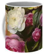 Detail Of Full Blown Roses Coffee Mug