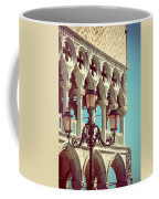 Detail Of Lamp And Columns In Venice. Vertically.  Coffee Mug