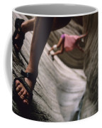 Detail Of Sandals And Hikers In A Slot Coffee Mug