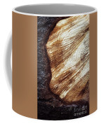 Detail Of Sawing Wood With Bark Coffee Mug