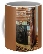 Detail Of Wood Carving And Tiles - Historic Fireplace Coffee Mug