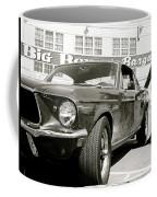 Detective Lieutenant Frank Bullitt, Steve Mcqueen, 1968 Ford Mustang Gt 390 Coffee Mug