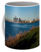 Detroit Skyline And Shadow Coffee Mug
