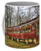 Devastation Railroad Passenger Train Car Fire Art Coffee Mug
