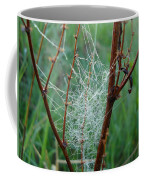 Dew Covered Spider Web Coffee Mug