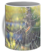 Dew Drops On A Spider Web Coffee Mug