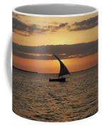 Dhow At Sunset Coffee Mug