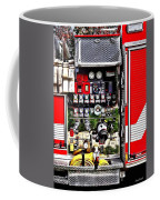 Dials And Hoses On Fire Truck Coffee Mug