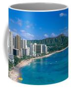 Diamond Head And Waikiki Coffee Mug