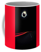 Diamond Ring Solar Eclips Over Route 66 By Adam Asar 2 Coffee Mug