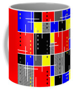Diamonds And De Stijl Coffee Mug by Tara Hutton