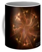 Digital Daisy Gold Coffee Mug