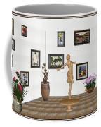 digital exhibition _ A sculpture of a dancing girl 3 Coffee Mug