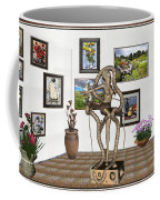 Digital Exhibition _ Modern  Statue   Of Dancing Girl Coffee Mug