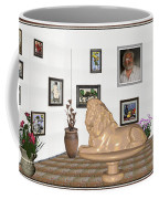 Digital Exhibition _  Sculpture Of A Lion Coffee Mug