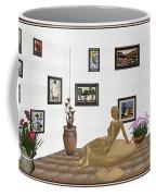 digital exhibition _ Statue of girl 52 Coffee Mug