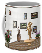 digital exhibition  Statue 23 of posing lady  Coffee Mug
