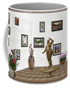 digital exhibition  Statue 25 of posing lady  Coffee Mug