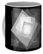 Digital Rose. Black And White Coffee Mug