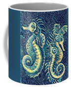 Digital Water Horse 3 Coffee Mug