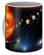 Digitally Generated Image Of Our Solar Coffee Mug