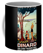 Dinard, French Riviera, Two Swimmers  Coffee Mug